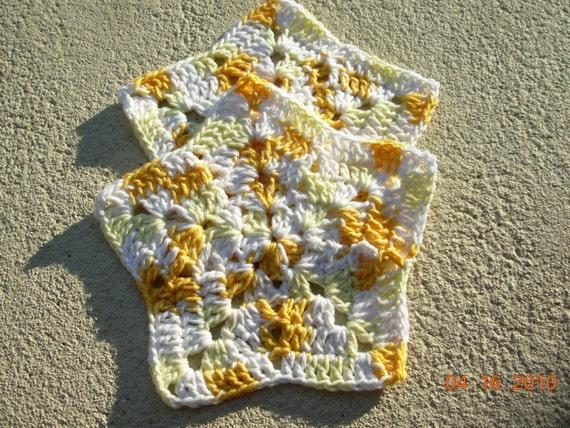 SALE Set of 2 Crochet Star Dishcloths