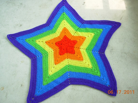 TODAY ONLY PRICE Rainbow Star Afghan