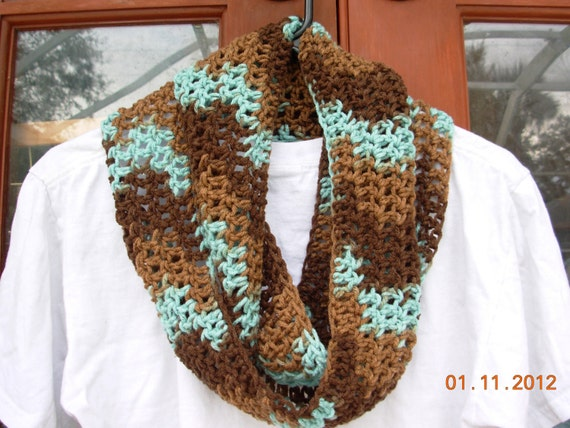 Sale Today-Infinity Eternity Cowl Scarf-Earth and Sky