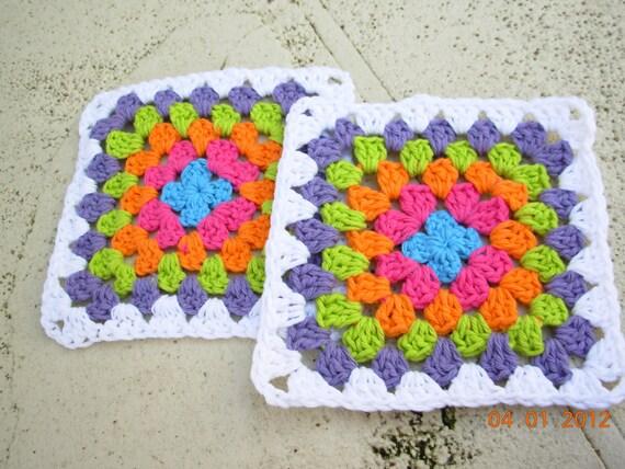 SALE TODAY-Set of 2  Granny square me dishcloths