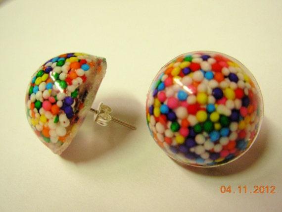 Resin Sprinkle Sugar High Earrings Dots