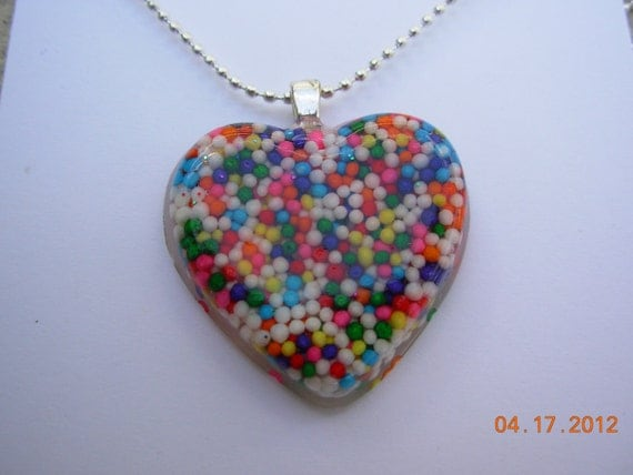 Sugar High Candy Heart Resin Necklace