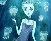 Jellyfish Girl print