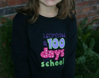 100th Day of School Appliqued Tee, 100th Day of School Shirt, 100th Day of School Tshirt
