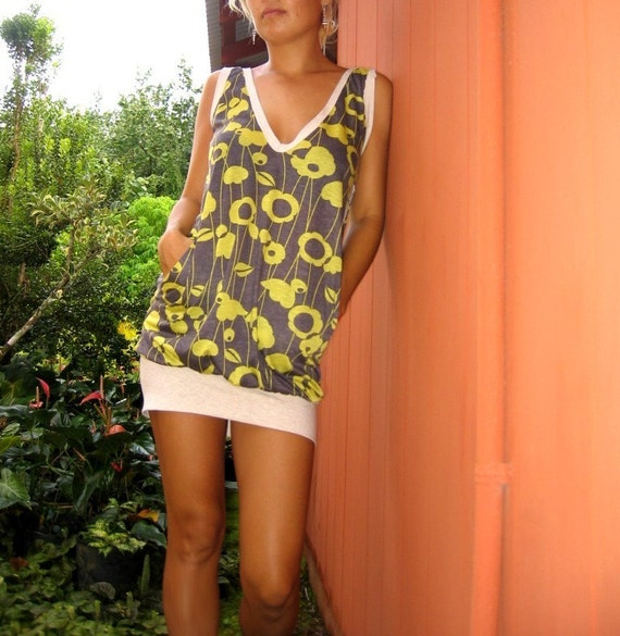 made to order tank mini dress --you choose the vintage fabric