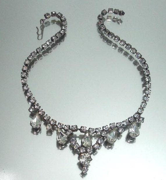 Vintage Bridal Wedding Rhinestone Necklace