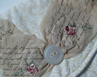 Clutch Bag Purse, Bridal, Special Occasion Bag, Wedding, Mother of the Bride, antique white, bridesmaid, french script ribbon trim