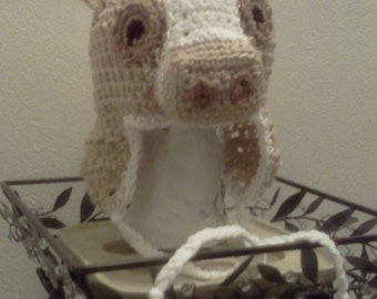 Crochet HORSE PONY Hat - Custom Size & Color