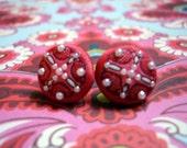 Vintage Red Pearl Earrings - CUSTOM