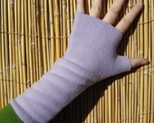 Fingerless gloves, wrist warmers, LAVENDAR, washable, super soft fleece