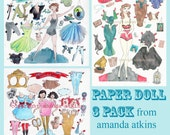 Paper Doll Three-Pack - vintage inspired by Amanda Atkins