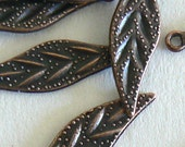 50pc 9mm High Quality Antique Copper Finish Bead Beads Leaves b2547
