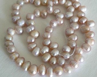 19inch Strand 78xmm Teardrop Freshwater Pearl Beads Natural Purple b1406