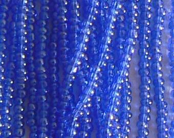 SALE A Hank Transperet Luster Sapphire Seed Beads Bead Hank 11 Size No25