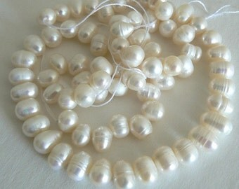 19inch Strand 7x8mm Teardrop Freshwater Pearl Beads Natural White b1405