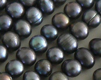 15inch 6-7mm Natural Freshwater Pearl Beads Potato Light Peacock b2217