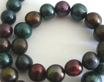SALE 16inch Huge 11-13mm Natural Freshwater Pearl Beads Potato Multicolor b2228