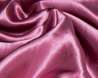 100% Satin Silk Fabric Basic Color  Charmeuse 1 Yard