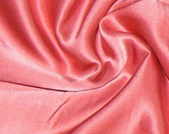100% Satin Silk Fabric Basic Color Charmeuse 1 Yard