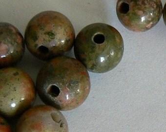 SALE 20PC 8mm Unakite Natural Round Beads Jewelry Gemstone