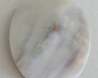 1 Mother-of-pearl Natural Blister Pearl Oval 55x70mm White