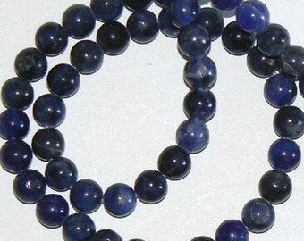 SALE 16inch 8mm Lapis Lazuli Round Beads Blue Gemstone Bead b1231