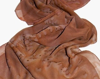 Hand Made Oblong Silk Scarf We Love Old Time