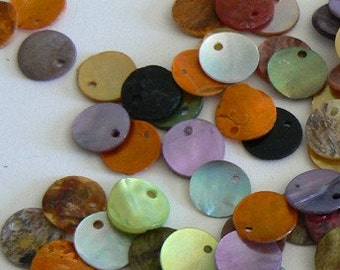 SALE A Lot 10mm Natural Shell Beads Multicolor Light Weight Mix3