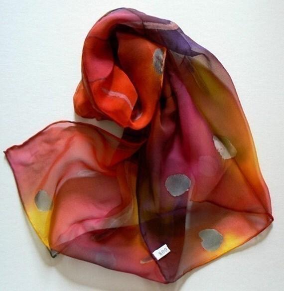 Original Hand Painted Silk Scarf