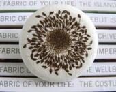 Canvas poppy stamen badge