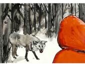 Little Red Riding Hood no.2 - 7 x 10