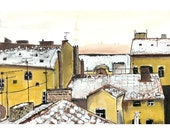 Rooftops in Prague - 4 x 6