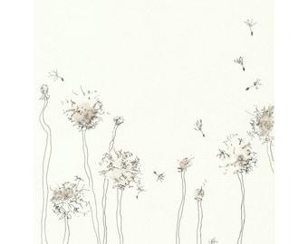 Dandelion Clocks - 7 x 9