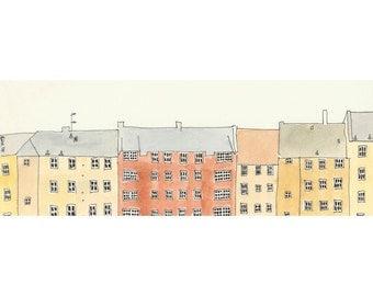 An Edinburgh Street - 4 x 11