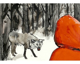 Little Red Riding Hood no.2 - 7 x 10