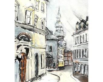 Street in Riga - 6 x 8