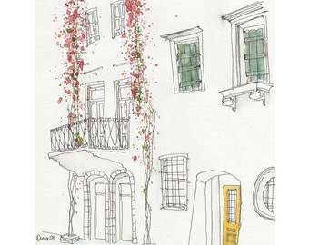 Flowers in Greece - 5 x 7