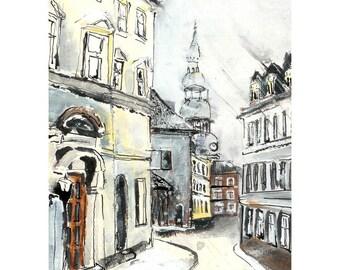 Street in Riga - 7 x 10