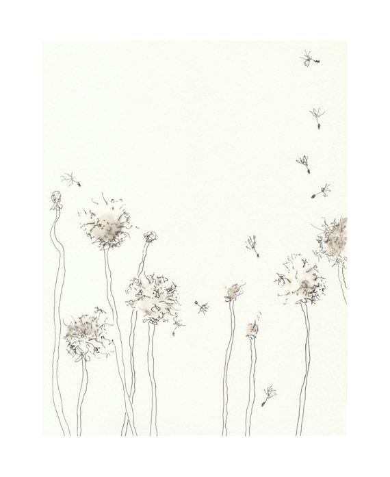 Dandelion Clocks - 5 x 7