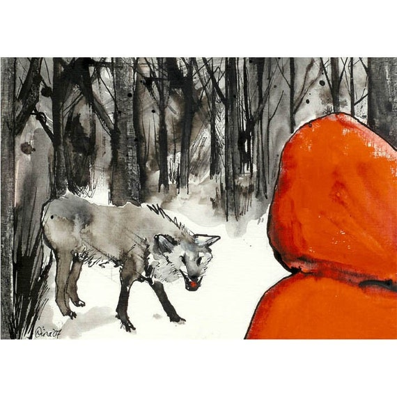 Little Red Riding Hood no.2 - 5 x 7