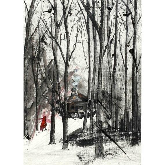 Little Red Riding Hood no.3 - 7 x 10