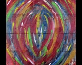 Original Art for Sale Was 275 Now 198 Abstract Copper Painting Contemporary Modern Karina Keri-Matuszak
