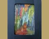 Copper Art for Sale, Original, Painting, Abstract, Miniature, Metal, Karina Keri-Matuszak