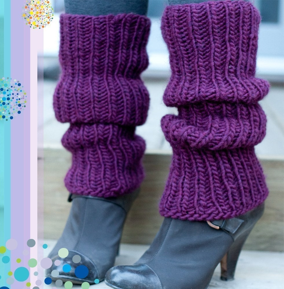 Simple Legwarmers Knitting PATTERN by knittles on Etsy