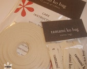 Half inch Silkscreen Ribbon and Tags for your Products