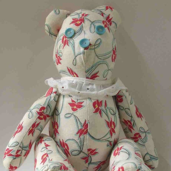 Vintage Teddy Bear Victorian Style Jointed FREE SHIPPING