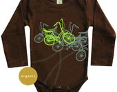 Unisex Baby Clothes, Baby Clothes, New Baby Gift, Gifts for baby boy, Hipster Baby Clothes, Bicycles Baby Long sleeves Organic Onesie