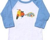 Scooter Long sleeves Raglan Toddler Tee (SALE)