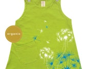 Baby Shower Gifts, cool kids, Hipster Baby Clothes, Baby Girl Outfit, Trendy, Baby Girl Clothes, Dandelion Organic  baby toddler girl Dress