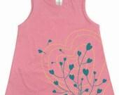 Hearts Organic Baby Toddler Pink Dress
